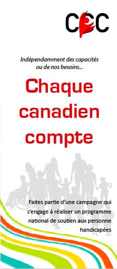 Brochure de chaque canadien compte