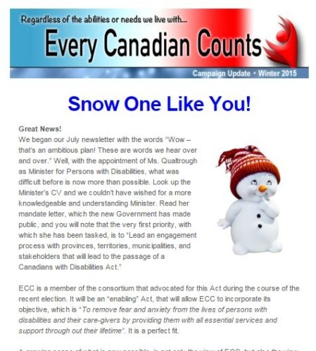 Winter 2015 ECC newsletter