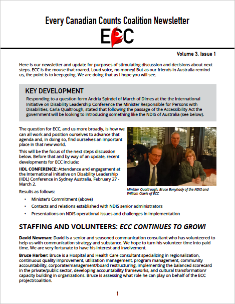 ECC Newsletter, Volume 3, Issue 1